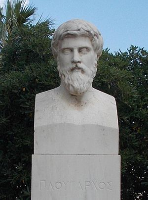 Plutarch - Plutarch's bust at Chaeronea, his home town