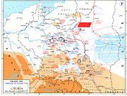 A map showing the disposition of all troops following the Soviet invasion