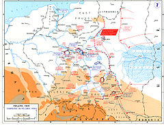 Map showing the disposition of all troops following the Soviet invasion.