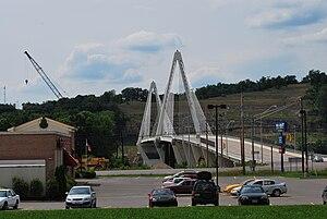 Pomeroy–Mason Bridge - View of bridge from West Virginia side