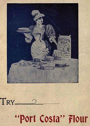 Port Costa, California - Heritage advertisement for Port Costa Flour
