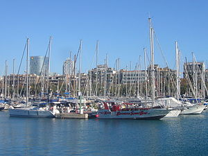 Port Vell - Barcelona Speed Boat.JPG