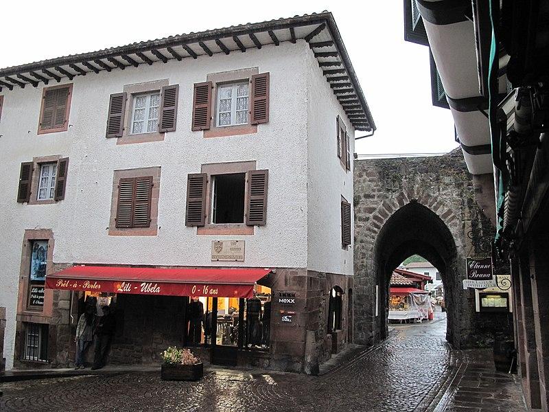 Gate in Saint-Jean-Pied-de-Port, Pyrénées-Atlantiques, France