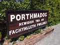 Porthmadog station sign (9078334877).jpg
