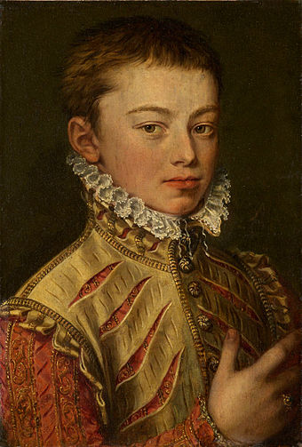 Portrait, ca. 1559-60 by Alonso Sanchez Coello. Portrait of Don Juan of Austria by Coello 1559-60.jpg