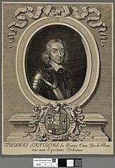 Thomas Sanders de Ireton Com. Derb. Arm. nec non Equitum Tribunus
