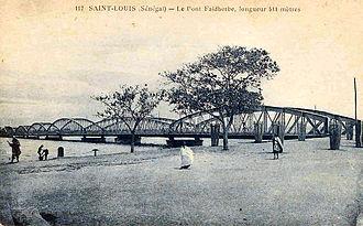 Faidherbe Bridge - Period post card, illustrating the Faidherbe Bridge