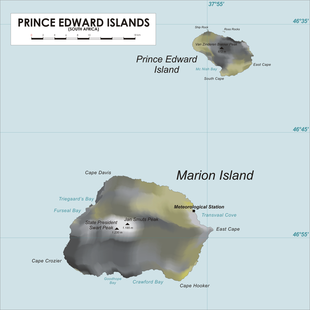 Map of Prince Edward Islands