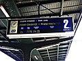 Praha Masarykovo nádraží, linka Esko S 31 na tabuli.jpg