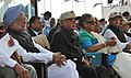 Pranab Mukherjee and the Prime Minister, Dr. Manmohan Singh witnessing the Indian Air Force Fire Power demonstration Exercise 'Iron Fist 2013' at Pokharan, Jaisalmer, Rajasthan. The Chief Minister of Rajasthan.jpg