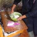 File:Preparing bread with milk and cream to be cooked on the stove.webm