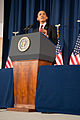 President Barack Obama speaking on the military intervention in Libya at the National Defense University 12.jpg