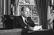 President Ford announces his decision to pardon former President Richard Nixon - NARA - 7140608
