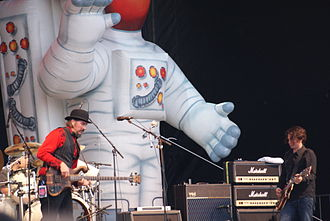 Primus (band) - Alexander, Claypool and LaLonde at the 2008 Ottawa Bluesfest in Ontario, Canada.