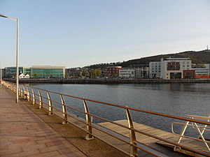Swansea docks - Prince of Wales Dock, April 2011