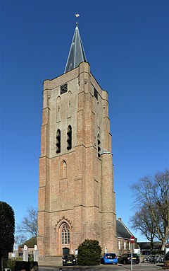 Oostkapelle Village in Zeeland, Netherlands