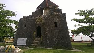 Maribojoc, Bohol - Image: Punta Cruz watchtower, Maribojoc Bohol post 2013 earthquake 01