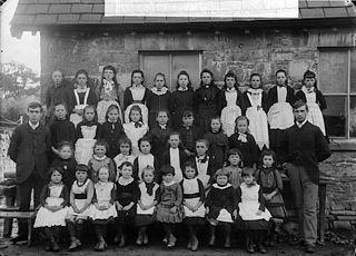 Pupils of the British school, Llanbryn-mair