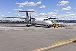 "QantasLink (VH-SBV) Bombardier DHC-8-315Q Dash 8, in new QantasLink ""new roo"" livery, at Wagga Wagga Airport.jpg"