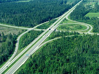 Partial cloverleaf interchange - Image: Qb interchange