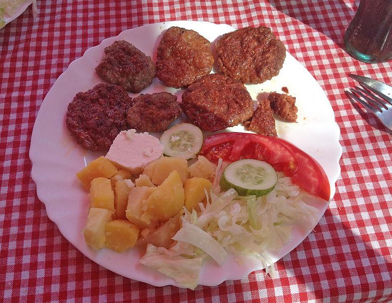 File:Qebapa in Prishtina - Kosovo food.jpg