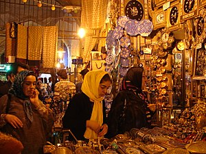 Grand Bazaar, Isfahan - Shoppers in the Grand Bazaar