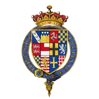 William Stanley, 6th Earl of Derby - Quartered arms of Sir William Stanley, 6th Earl of Derby, KG