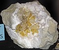 Quartz-barite-calcite geode (Rt. 37 roadcut, Harrodsburg, Indiana, USA) (33656807910).jpg