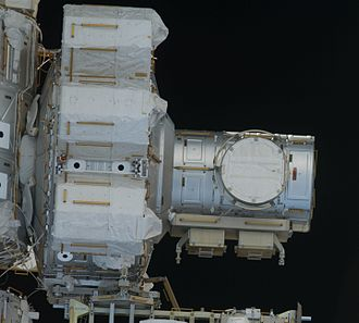 Quest Joint Airlock Module Quest airlock exterior - STS-127.jpg