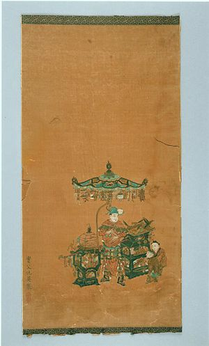 Qiu Ying - Scroll illustrating The Heart Sutra, by Qiu Ying, AD 1543