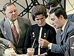 RIAN archive 16849 Gagarin, Tereshkova, Tikhonov and Lyubeznov (cropped).jpg