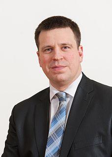 Jüri Ratas Estonian politician