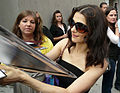 Rachel Weisz Signs Autographs outside of the Tiff '08 Press Conference for The Brothers Bloom 04.jpg