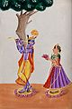 Radha and Krishna. Gouache drawing. Wellcome V0044954.jpg