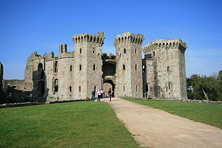 Raglan Castle Late medieval castle in Monmouthshire, Wales