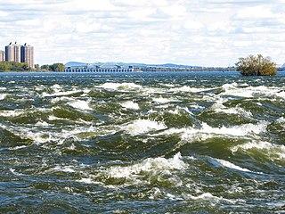 Lachine Rapids rapids in the Saint Lawrence river at Lachine, Quebec
