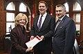 Raynell Andreychuk, Andrew Scheer and James Bezan in Ottawa - 2018 (26222749617).jpg