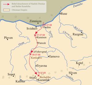 Hadzhi Dimitar - Actions of the rebel detachment of Hadzhi Dimitar and Stefan Karadzha in 1868.