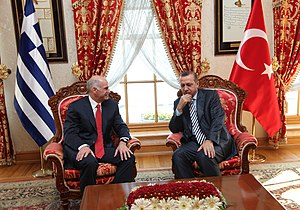 Foreign relations of Turkey - Greek Prime Minister George Papandreou and Turkish Prime Minister Recep Tayyip Erdoğan in Ankara, November 2009