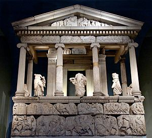 Nereid Monument - The reconstructed façade of the monument in the British Museum