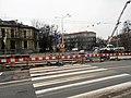 Reconstruction of tram track on Szarych Szeregów Square in Szczecin, 2020 (5).jpg
