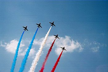 Red Arrows at Farnborough Air Show 2006
