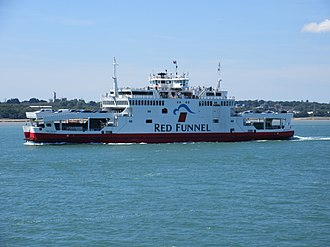 Red Funnel - MV Red Falcon in the Solent