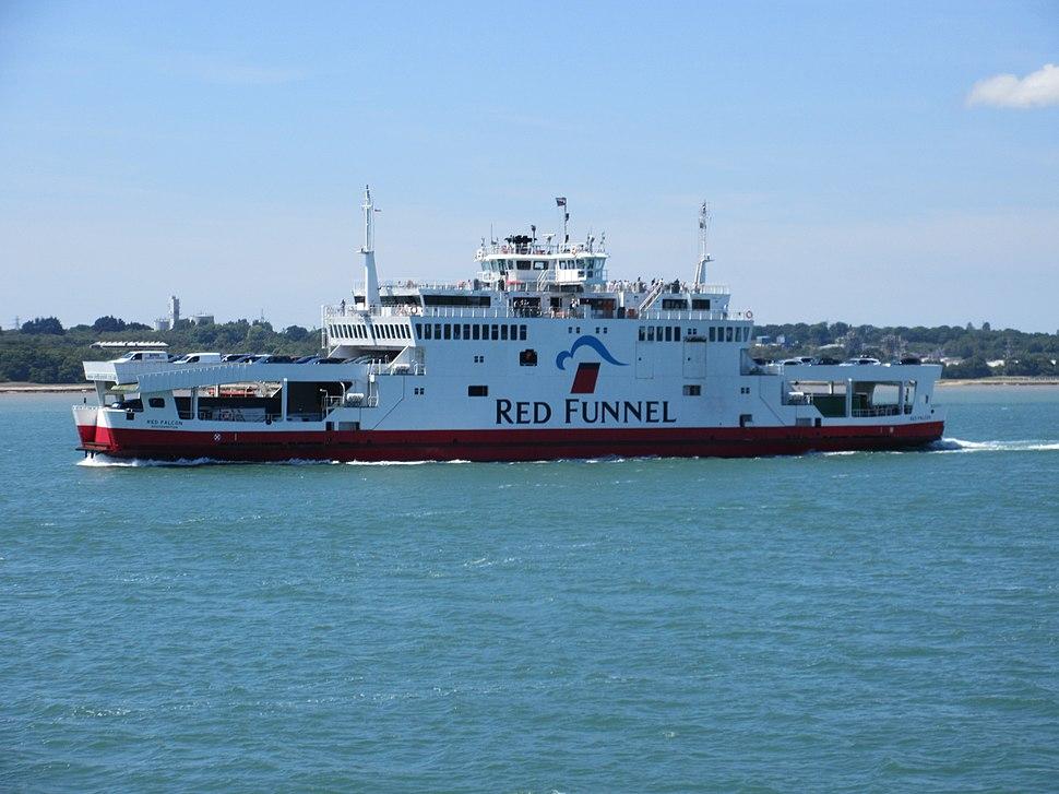 Red Funnel MV Falcon in the Solent