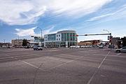 Regina's Bus Depot, on the corner of Saskatchewan Dr and Broad St.