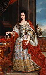 Anne Marie d'Orléans as Queen of Sardinia, portrait by an unknown painter, 1720