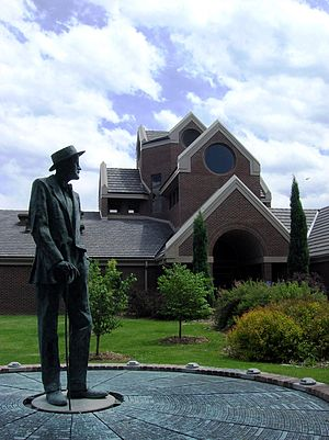 Regis University - Rowan Gillespie's Ripples of Ulysses at the Coors Life Directions Centre.