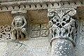 Reich geschmückt, die romanische Apsis (12. Jahrhundert) der Kirche Saint-Vivien-de-Medoc. 16.jpg