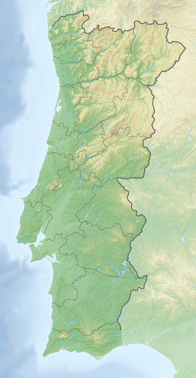 Map showing the location of Alvão Natural Park