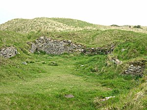 Christianity in Cornwall - Remains of St Piran's Old Church, Perranzabuloe